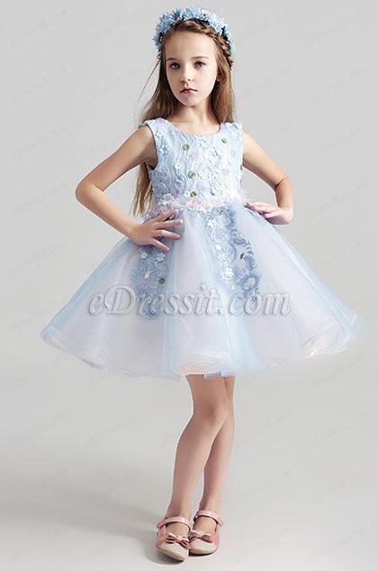 eDressit Lovely Light Blue Short Girl Wedding flower Girl Dress (28195305)