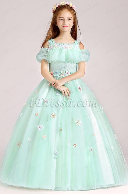 eDressit Tulle Handmade Wedding Flower Girl Party Dress (27197404)