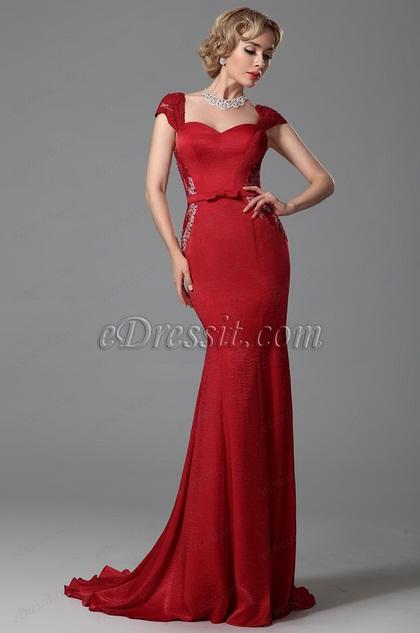 eDressit Cap Sleeves Trumpet Evening Dress Formal Wear (02152702)