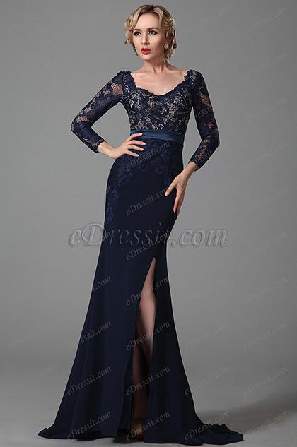 eDressit V Декольте Длинный Рукав Платье для Матери Невесты (26152505)