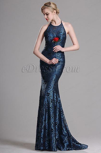eDressit Halter Straps Lace Mermaid Evening Dress Prom Gown (00163705)