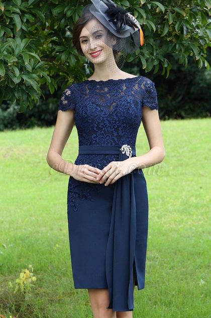 eDressit Elegant Blue Lace Mother of the Bride Dress (26170105)