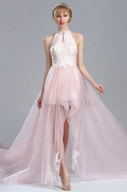 eDressit Light Pink Halter Lace Prom Homecoming Dress (02174501)
