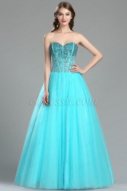 eDressit Aqua Blue Beaded Red Carpet Formal Dress (36174332)