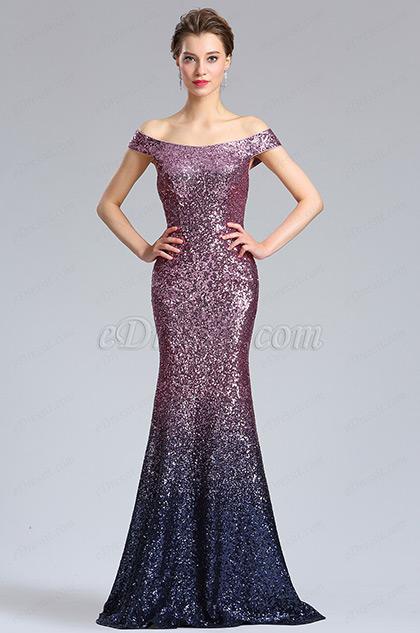eDressit Elegant Off Shoulder Sequins Party Evening Dress (02183206)