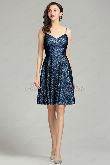 eDressit Blue Sequin Cocktail Dress Evening Wear (04180605)