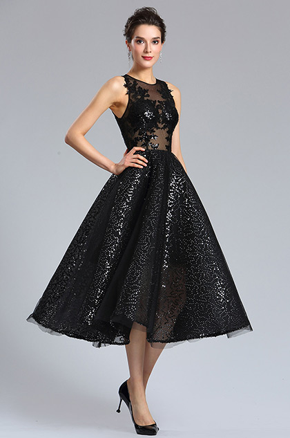 eDressit Sexy Black Sequins Cocktail Party Dress (04181300)