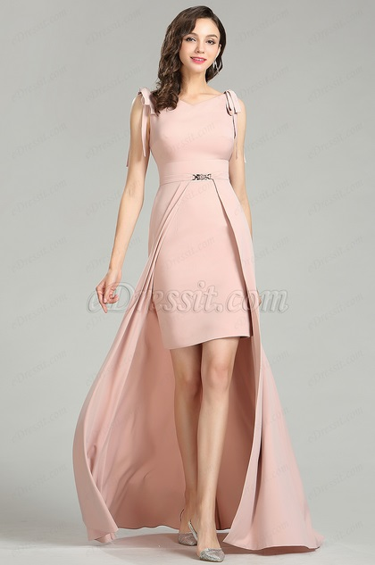 eDressit Elegant Pink Fashion Detachable Dress for Women (00181901)
