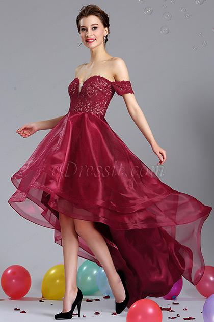 eDressit Burgundy Off Shoulder Prom Homecoming Dress (04181117)