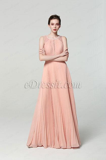 eDressit New Illusion Neck Pleated Formal Evening Dress (00190110)