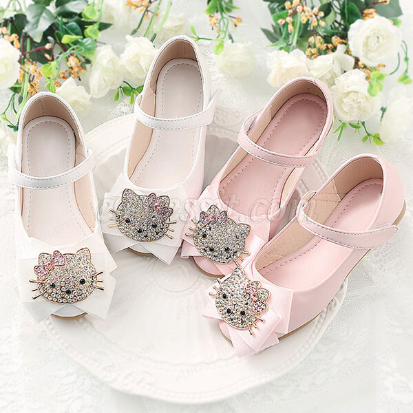 eDressit Girl's Round Toe Leather Buckle  Flat Flower Dance Shoes (250019)