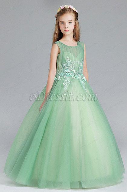 eDressit Green Children Wedding Flower Girl Dress (27199404)