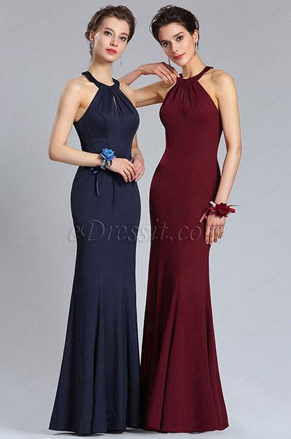 eDressit Sexy Neckholder Blau Meerjungfrau Abendkleid (36184317)