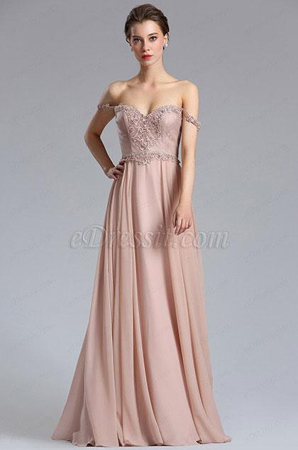 eDressit Elegant A Line Off Shoulder Evening Dress Formal Dress (00182746)