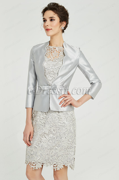 eDressit Silver-Grey Two Pieces Mother of the Bride Dress (26191608)