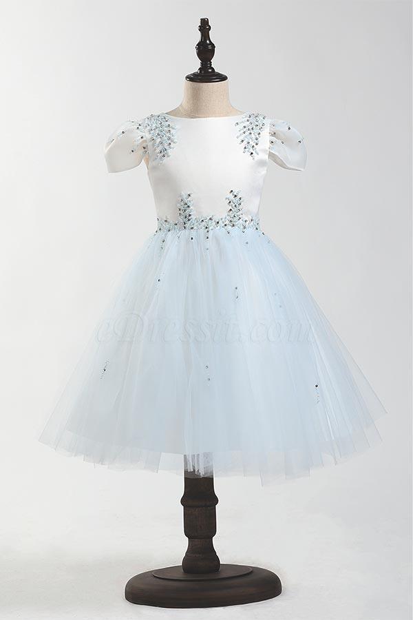 eDressit Beadings Cap Sleeves Children Wedding Flower Girl Dress (28205805)
