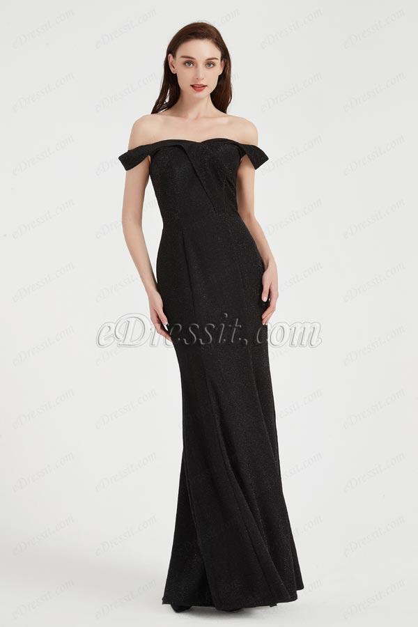 eDressit Sexy Black OFF Shoulder Elegant  Party Evening Dress (02203700)