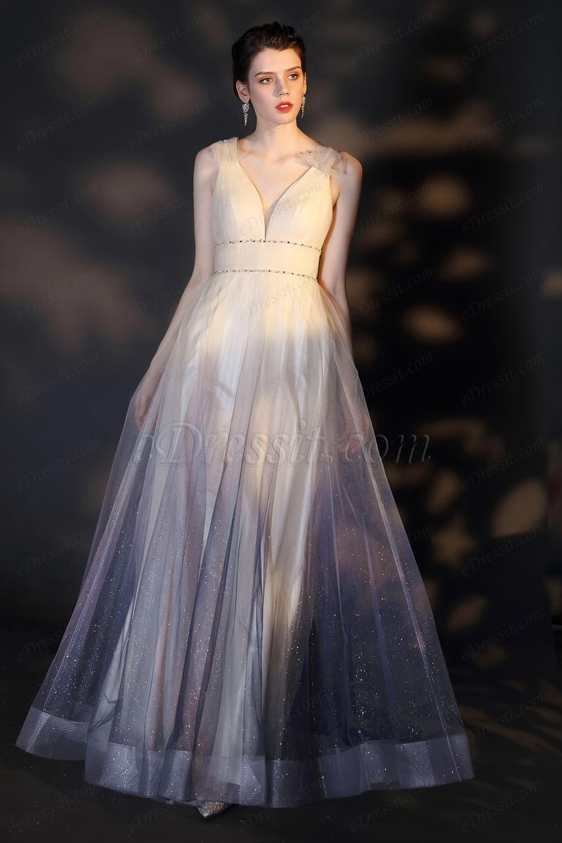 eDressit Sexy V-Cut Straps Magical Gradient Tulle Party Dress (02204456)