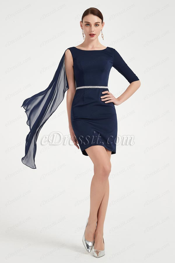 eDressit Blue Unique Design Mother of the Bride Dress (26200205)