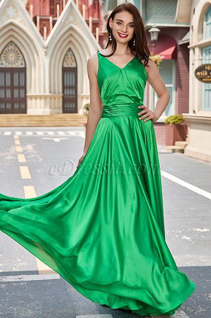 eDressit Green Celebrity V-Cut Open Back Ball/Party Dress (00200104)