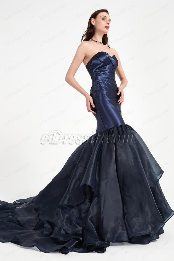 Blue Party Dress with Sweetheart Corset  Prom Gown-eDressit (01200405)