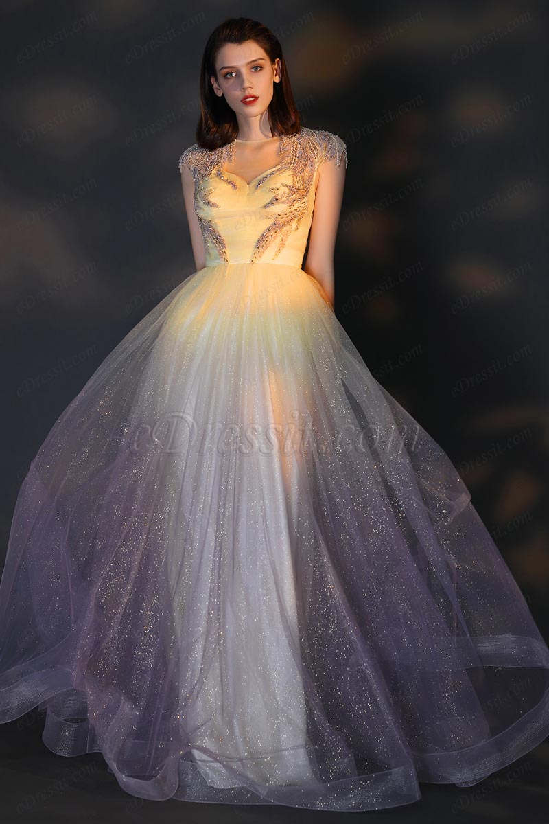 eDressit Gorgeous Beaded Embroidery Shiny Tulle Party Evening Dress (02206256)