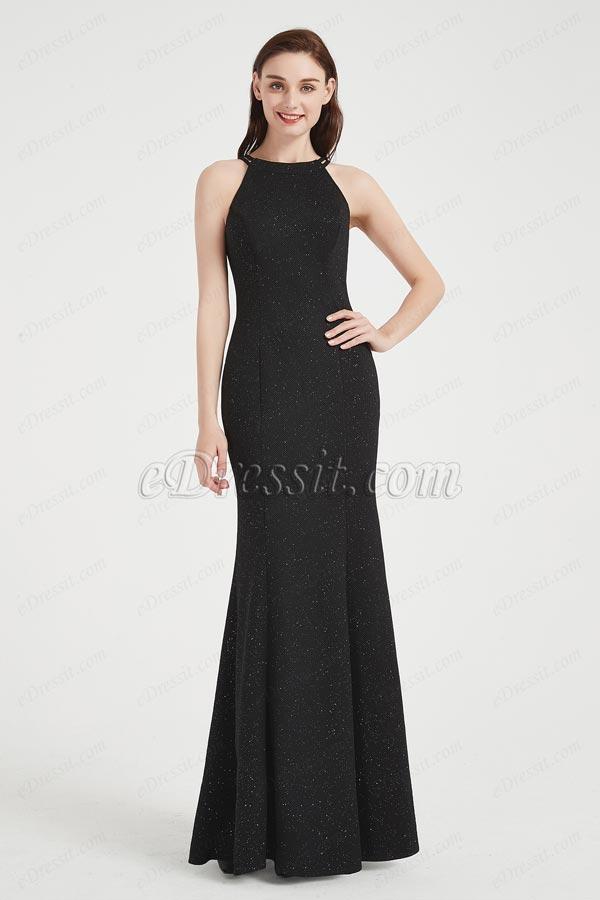 eDressit Shiny Black Halter Mermaid Women Ball Prom Dress (00204600)