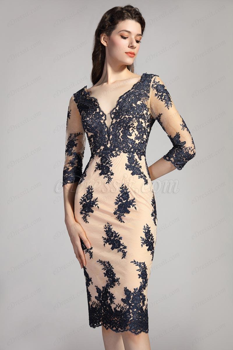 eDressit Sexy V-Cut Long Sleeves Mother Of Bride Dress (26201405)