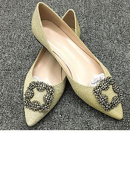 Shiny Beadings Toe Closed Rhinestone Shoes (0919078)