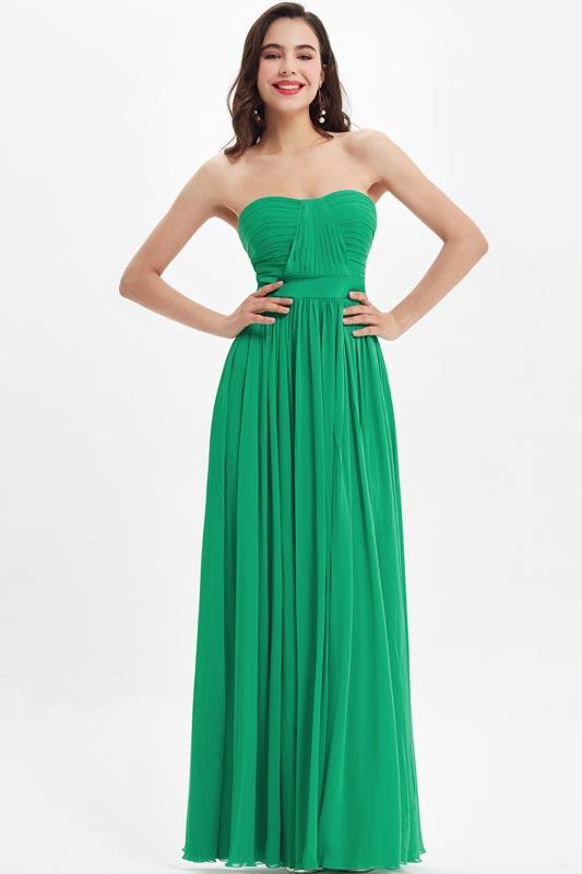 eDressit Green Strapless Sweetheart  Wedding Bridesmaid Dress (07210104)