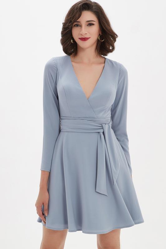 eDressit Fashion Smoky Gray V-Cut Short Party Dress/Daydress (03210408)