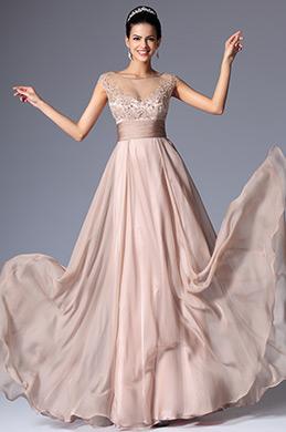 eDressit Cap Sleeves Sheer Top Mother of the Bride Dress (26149846)
