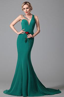 eDressit Ein Schulter  V Ausschnitt Abendkleid Formal Kleid (02150905)