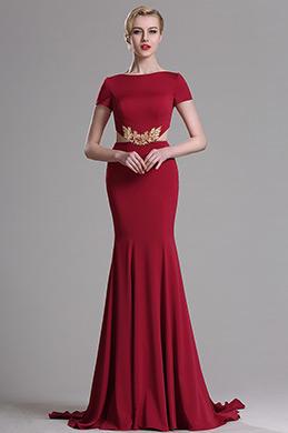 eDressit Rot Kurze Ärmeln Mermaid Prom Abendkleid (00163317)