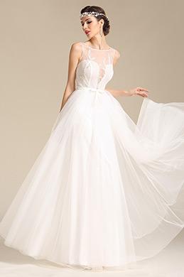 eDressit robe de mariée sans manche broderie décolleté sexy (01151807)