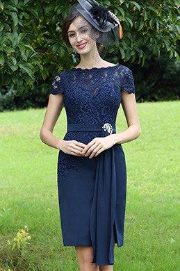 eDressit Elegant Blau Spitze Kleid für die Brautmutter (26170105)