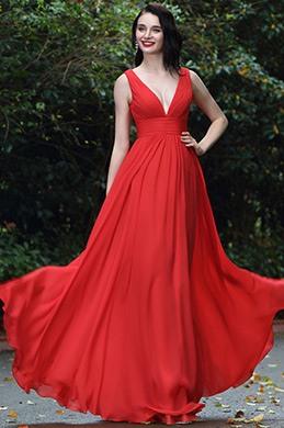 eDressit Rot Sexy Chiffon Brautjungernkleid  Abendkleid (00170402)