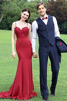eDressit Spaghetti Straps Burgundy Lace Party Dress Design (00171817)
