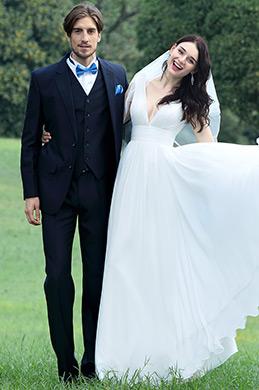 eDressit Sexy White Plunging V Neck Wedding Dress (01170407)