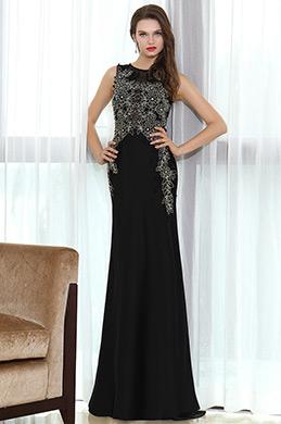 eDressit Black Lace Beaded Prom Occasion Dress (36170700)