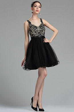 eDressit Black Beaded Floral Cocktail and Party Dress (35170200)