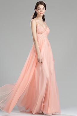 eDressit Robe de Demoiselle d'Honneur Sans Manche Orange (00180210)
