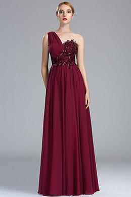 eDressit Burgundy Lace Appliques Fancy Evening Gown (00174117)