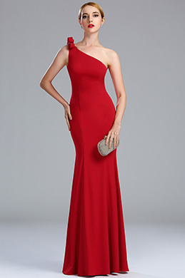 eDressit One Shoulder Red Long Women's Formal Gown (00173402)