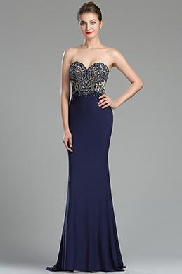 eDressit Sparkly Navy Blue Beaded Backless Evening Dress (36175105)