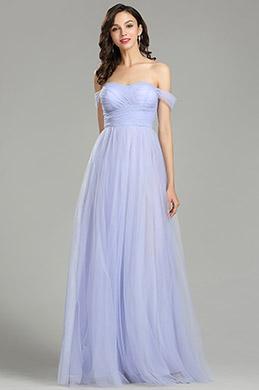 eDressit Sweet Off the Shoulder Purple Evening Dress (00181406)
