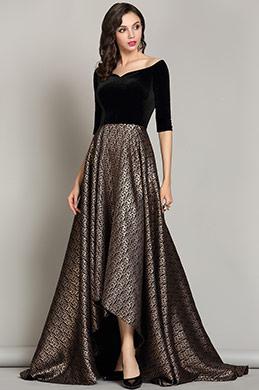 eDressit Off the Shoulder Black Dress Formal for Women (02181200)