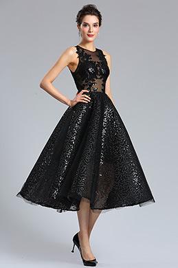 eDressit Платье коктейльное из сексуального черного блеска (04181300)