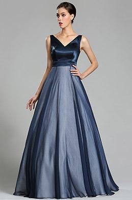 eDressit Dark Blue Floor Length Ball Gown Prom Dress (02181405)