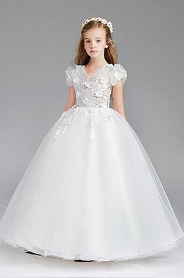 eDressit Lace Short Sleeves Wedding Flower Girl Party Dress (27202007)